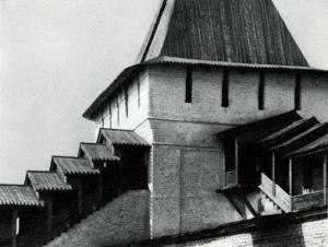 Угличская башня Спасского монастыря. 1635. Фрагмент
