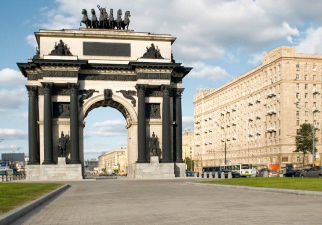 Триумфальная арка,Кутузовский проспект, Площадь Победы