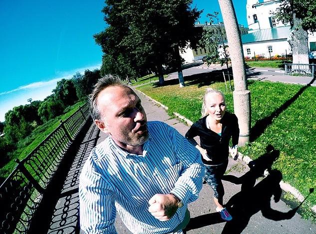 Светлана Патахонова на пробежке