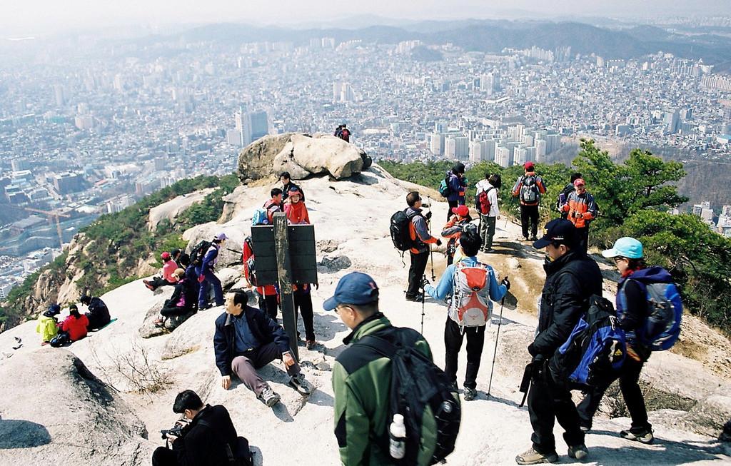 Гора Пукхансан в Сеуле, Южная Корея