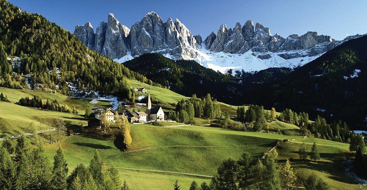 Veduta delle Dolomiti, Funes – Villnoss, Bolzano (Dolomites and Green Villnoss Valley)