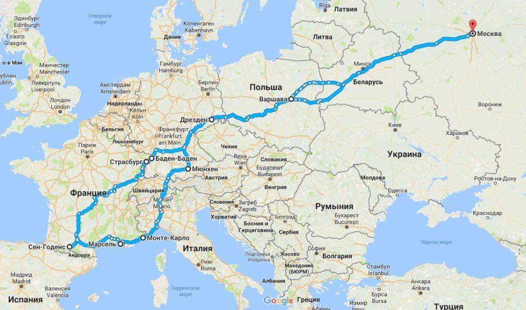 карта маршрута этап 3