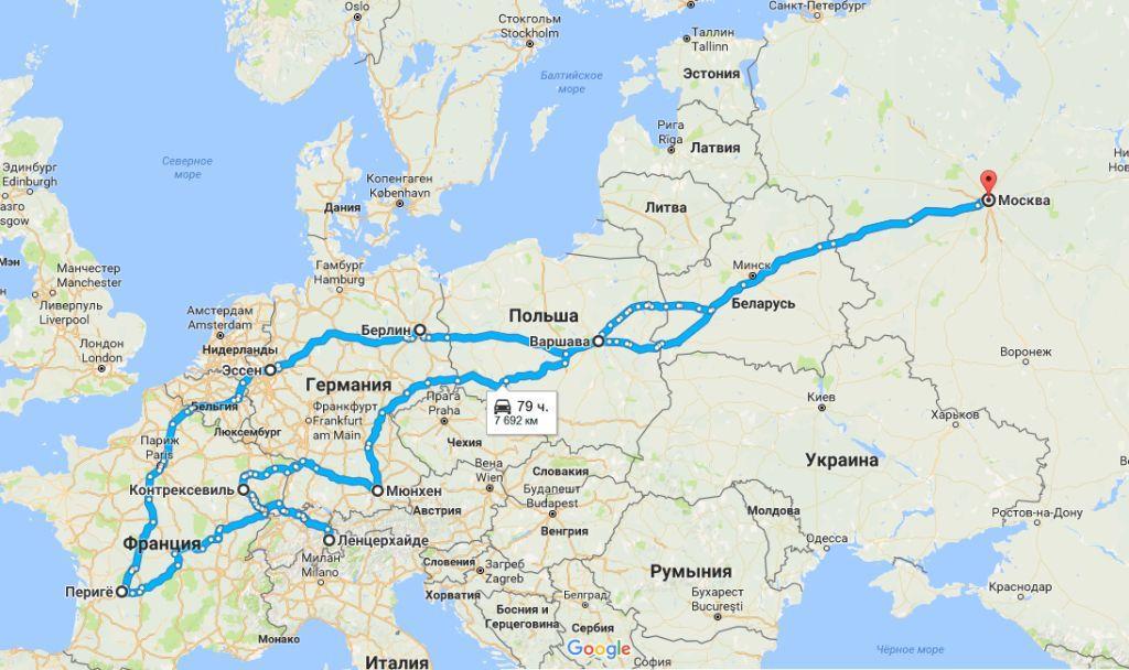 карта маршрута 2 этап